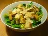 Caesar's Salad mit gebratenen Putenstreifen und Croutons